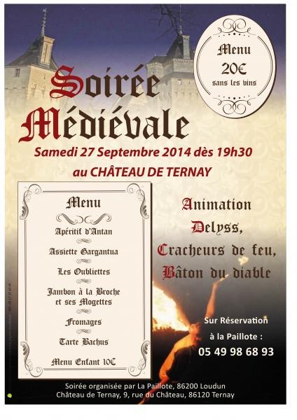 affiche soirée médiévale